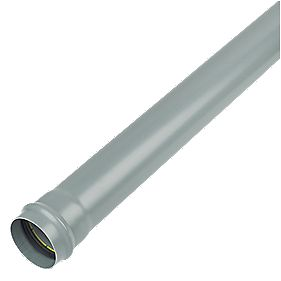 FloPlast Soil Pipe Single Socket Grey 110mm x 1m