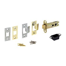 Double Sprung Mortice Latch Brass & Chrome 76mm