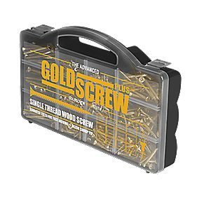 Goldscrew Plus Woodscrews Handy Case Pack of 750