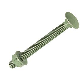Exterior Coach Bolts Outdoor Green Corrosive Resistant M10x220mm Pack of 10