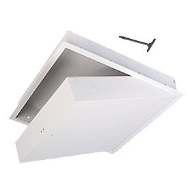 Manthorpe GL270F Fire-Resistant Drop-Down Loft Access Door White 562 x 562mm