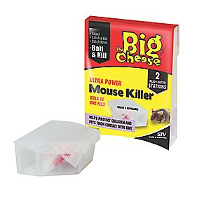The Big Cheese Ultra Power Mouse Killer Bait Box Pack of 2