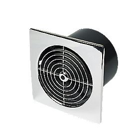 Manrose Axial 25W Kitchen Fan+Timer Chrome