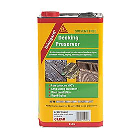 Sika Sikagard Decking Preserver Clear 5Ltr