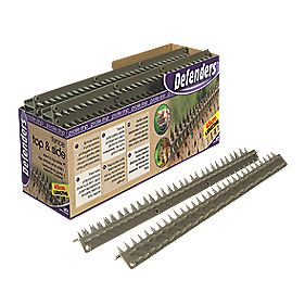 Defenders Prickle Strip Fence Top L-Shape Pest Deterrent Spikes Pack of 24
