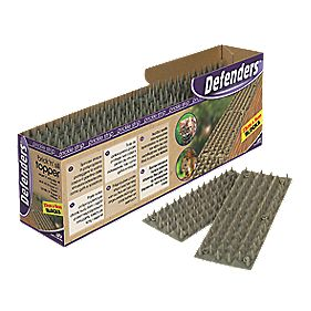 Defenders Prickle Strip Brick & Sill Top Pest Deterrent Spikes Pack of 24