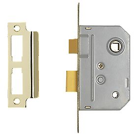 Century Bathroom Mortice Lock Brass 22 x 64mm