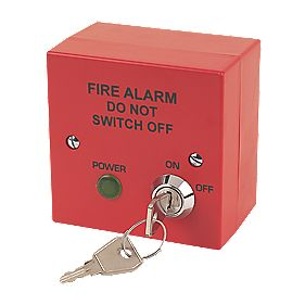 Tate F400-210R 2-Wire Fire Alarm Fuse Key Switch Red