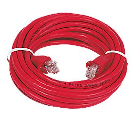 RJ45 Patch Lead 3.0m Red Pack of 10