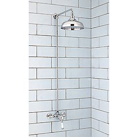 Moretti Classico Pressure Balancing Shower Fixed Exposed Chrome
