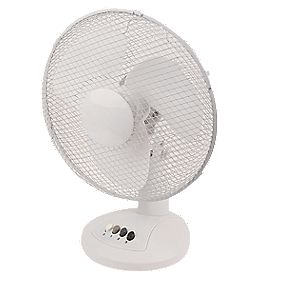 "12"" Desk Fan White"