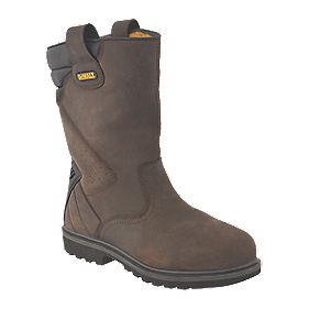 DeWalt Rigger Safety Boots Brown Size 8