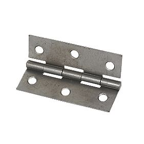 Steel Fixed Pin Hinge Self Colour 75mm Pack of 2
