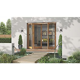 Jeld-Wen Canberra Solid Oak Slide & Fold Patio Door Set 2394 x 2094mm