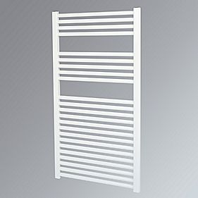 Kudox Flat Towel Radiator White 600 x 1100mm 619W 2112Btu