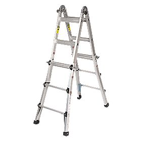 Aluminium Telescopic Ladder 2-Section 2 x 5 Treads 3.23m