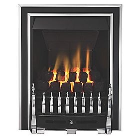 Focal Point Excelsior Gas Fire Antique Chrome Inset 180mm 3.75kW