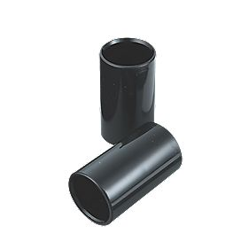 Tower Heavy Gauge Conduit Couplings 20mm Black Pack of 2