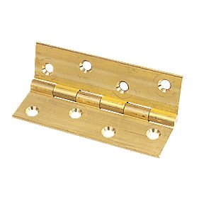 Solid Drawn Brass Hinge Self Colour 102 x 60mm Pack of 2