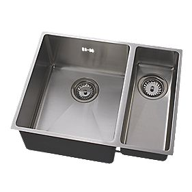 Astracast Minimo Cubic Square Inset Sink Stainless Steel 2 Bowl & 558 x 430mm