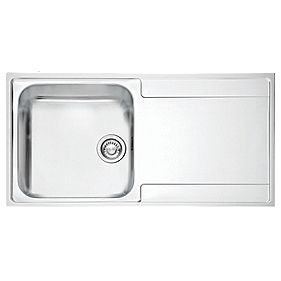 Screwfix Franke Sink : Franke Inset Kitchen Sink Stainless Steel 1-Bowl 1000 x 510mm ( 2843F ...