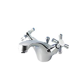 Swirl Quadra Mono Bathroom Basin Mixer Tap
