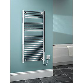 Kudox Curved Electric Towel Radiator Chrome 500 x 1100mm 250W 853Btu