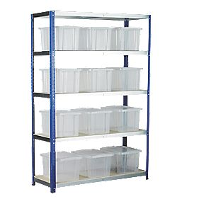 Barton Ecorax Shelving 1200 x 450mm 5 Shelves with 12 x 24Ltr Top Boxes