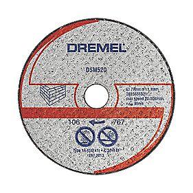 Dremel DSM520 Saw-Max Masonry Cutting Disc 55 x 5mm Pack of 2