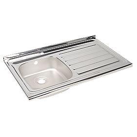Astracast Kitchen Sink Stainless Steel 1 Bowl & 1000 x 600mm