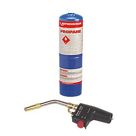 Rothenberger Quick Fire Torch Propane Gas Cylinder