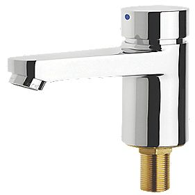 Aqualine-C Self-Closing Cold Water Bathroom Basin Pillar Tap