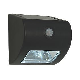 Matt Black Solar Powered Bulkhead with PIR 0.5W