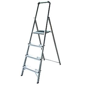 Lyte Platform Step Ladder Aluminium 4 Treads 1.46m