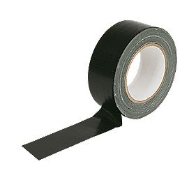 No Nonsense Cloth Tape 27 mm Mesh Black 48mm x 50m