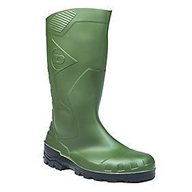 Dunlop. Devon H142611 Safety Wellington Boots Green Size 11