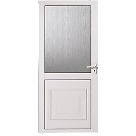 Ellbee Cumbria White Double-Glazed Back Door LH Aluminium 762 x 1981mm