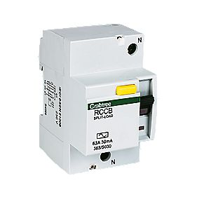 Crabtree 63A 30mA DP Split Load RCD