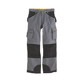 "CAT Trademark Trousers C172 Grey/Black 36""W 32""L"