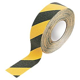 No Nonsense Anti-Slip Tape Black/Yellow 50mm x 18m