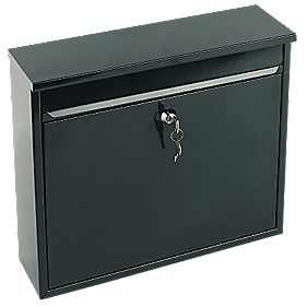 Sterling Elegance Rectangular Post Box Black