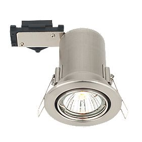 LAP Adjustable Round Low Voltage Fire Rated Downlight Brush Chrome 12V