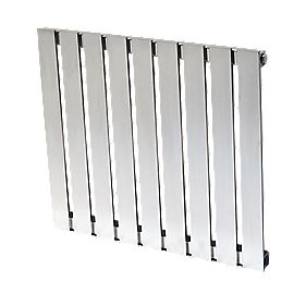 Reina Calix Horizontal Designer Radiator Stainless Steel 600x660mm 1658BTU