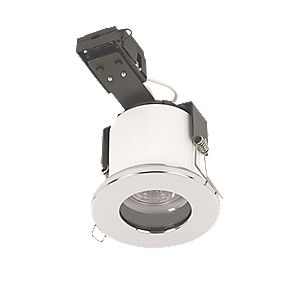 Sylvania Fixed Round Mains Voltage Fire Rated Downlight Pol. Chr 240V