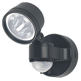 LAP 4W LED PIR Floodlight with Photocell Black 230V