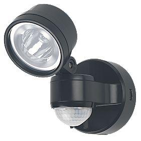 LAP IQ-ESL-401-D-B LED PIR Floodlight with Photocell Black 4W
