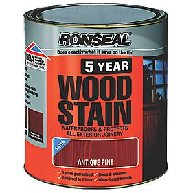 Ronseal 5 Year Wood Stain Satin Antique Pine 750ml