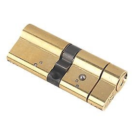 Yale AS Series Euro Double Cylinder Lock 40-40 (80mm) Polished Brass