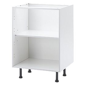 Unbranded White Flat Pack Kitchen Carcass Base Unit 600mm