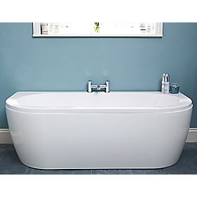 Twin-Ended Shaped Bath Acrylic No Tap Hole 1700mm
